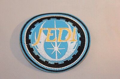 Blue STAR WARS - JEDI ORDER INSIGNIA  Iron On/Sew On Embroidered Patch