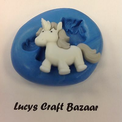 Silicone Mould Unicorn Fairy tale Sugarcraft Cupcake Topper Chocolate Sculpey