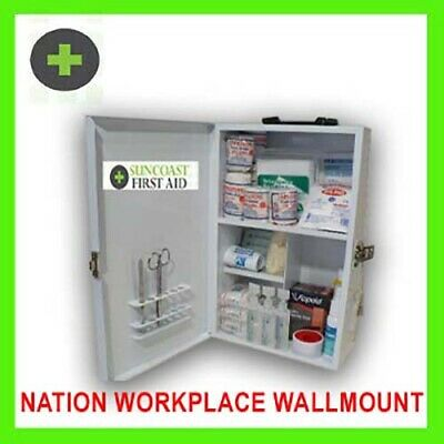 National Workplace Compliant Metal Wall Mount First Aid Kit