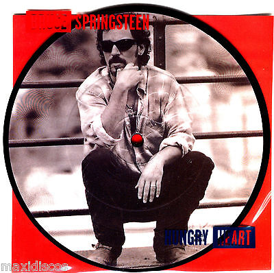 """7"""" - Bruce Springsteen - Hungry Heart (LTD. EDIT. PICTURE DISC, NUMBERED: 6319"""