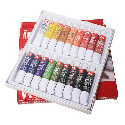 18 Pcs Colors 12ml Tube Draw Painting Artists WaterColour Paints Set