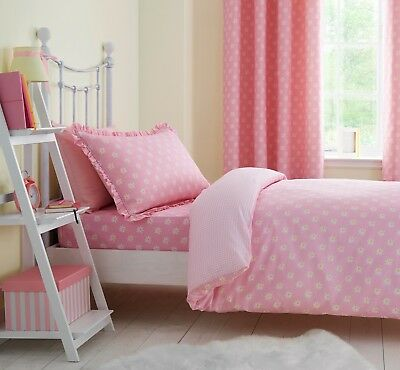 Catherine Lansfield Pink Daisy Dreamer Girls Cotton Rich Duvet Set Single/Double