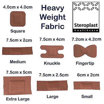 Steroplast Premium Heavy Weight Fabric Ultra Adhesive Medic Grade Wound Plasters