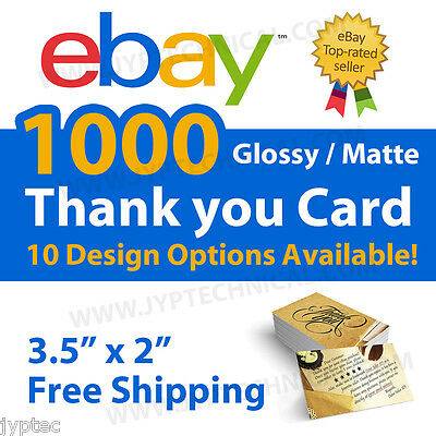1000 eBay Seller Professional Thank You Business Cards FREE SHIPPING