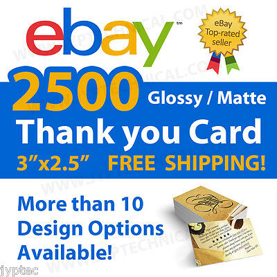 2500 eBay Seller Professional Thank You Business Cards FREE SHIPPING