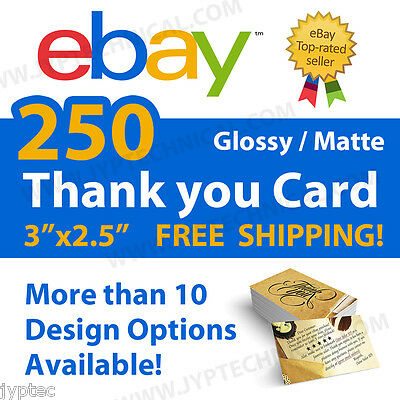 250 eBay Seller Professional Thank You Business Cards FREE SHIPPING
