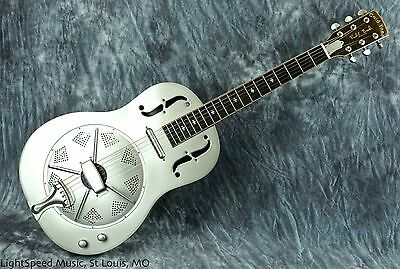Gold Tone GRE Thinline Roundneck Metal Body Acoustic-Electric Resonator Guitar