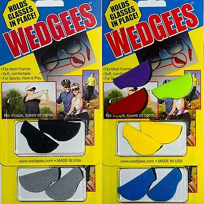 NEW 'WedGees' Non-slip Grip Sunglasses/Eyeglasses/Spectacles Holder Retainers