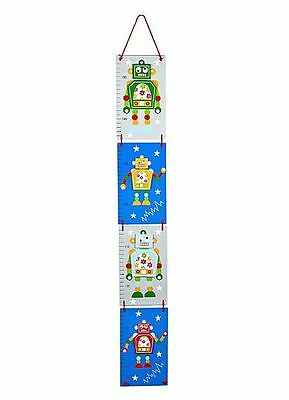 Blue Robot Children's Height Chart Growth Chart Boys Nursery Bedroom