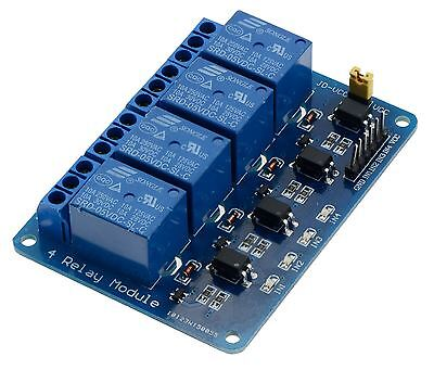 5V 4-Channel Relay Board Module for Arduino Raspberry Pi ARM AVR DSP PIC