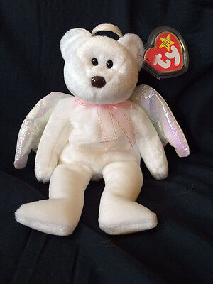 Halo the Bear - Ty Beanie Babies (Mint condition)
