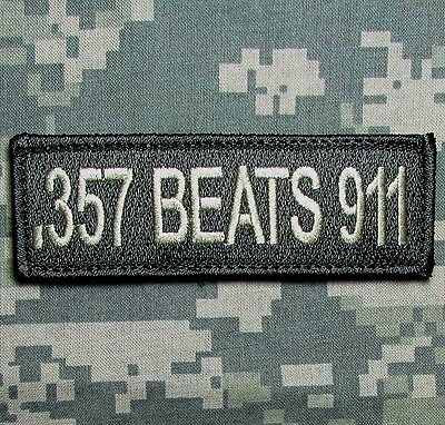 .357 Beats 911 Nra 2Nd Amendment Usa Army Acu Light Tactical Hook Morale Patch
