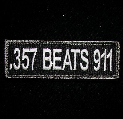 .357 Beats 911 Nra 2Nd Amendment Usa Army Swat Ops Tactical Hook Morale Patch