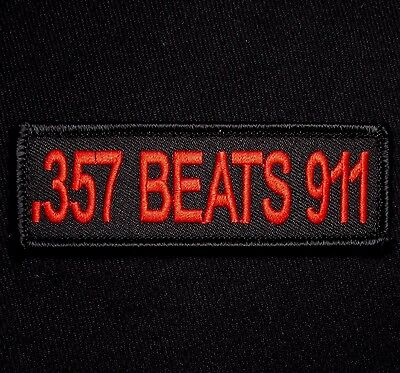 .357 Beats 911 Nra 2Nd Amendment Usa Black Ops Red Tactical Hook Morale Patch