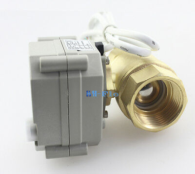 """New 1/2"""" to 1-1/4"""" 2 Way Brass Motorized Ball Valve,N.C Electrical Zone Valve"""