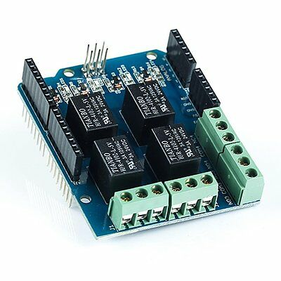 Four channel Relay Shield 5V 4 Channel Relay Shield Module for Arduino S3