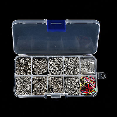 Jewelry Making Tools Kits Head Pins Chain Beads Handmade DIY Accessories&Box Set