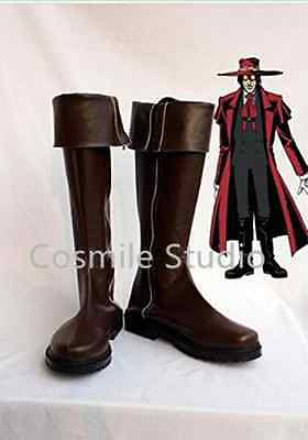 Cosmile Anime Manga Hellsing Alucard  Cosplay Custom made Shoes Boots