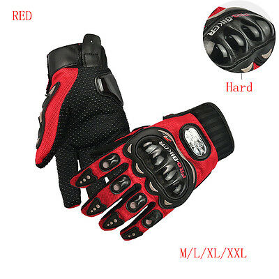 Motorcycle Motorbike Enduro Racing Motocross Gloves Full Fingers Protective Red