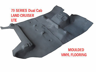 To suit 79 Series Land Cruiser Twin Dual Cab Moulded Rubber Vinyl Front & Rear