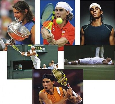 Rafa Nadal Tennis Legende Set von 6 Postkarte Set