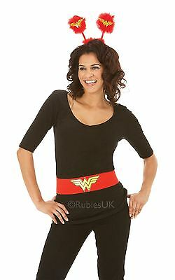 Ladies Red Wonder Woman Belt Superhero Fancy Dress Costume Outfit Accessory