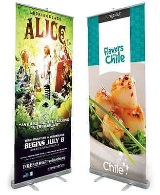 33.5 x 80 Retractable Roll Up Banner Stand with High Quality full color print