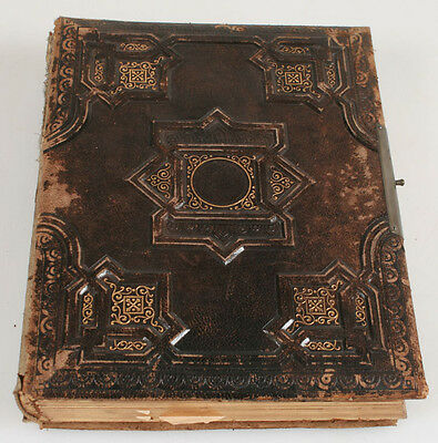 Antique Photo Album Cdv And Cabinet Card Sized Pages.