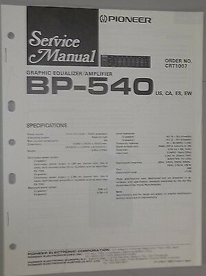 Pioneer bp 880 650 450 service manual original repair car stereo eq pioneer car 7 band graphic equalizer amplifier bp 540 oem service manual asfbconference2016 Images