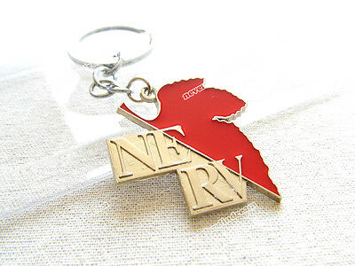Japanese Anime Neon Genesis Evangelion alloy metal keychain printed with NERV