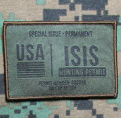 Isis Hunting Permit Army Usa Jihad Forest Velcro® Brand Fastener Morale Patch