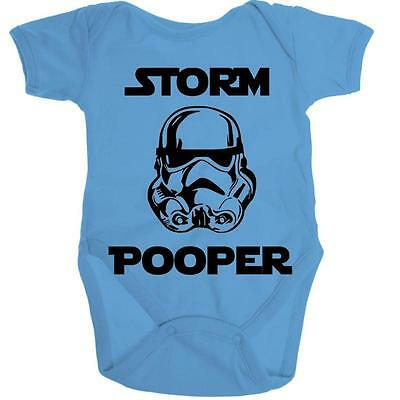 STORM POOPER Star Wars Baby Organic Onesie Baby Romper Shower Gift Infant Toddle