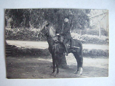 Cpa Algerie Cliche Photo Alger Armee Francaise Coloniale Cavalier Saphi Cheval