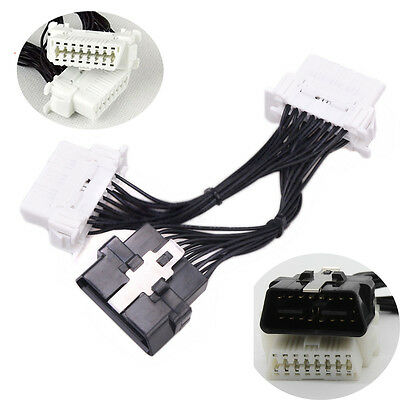1 To 2 16 Pin J1962 Y OBD2 II Cable Female Splitter Extension Auto Car Connector