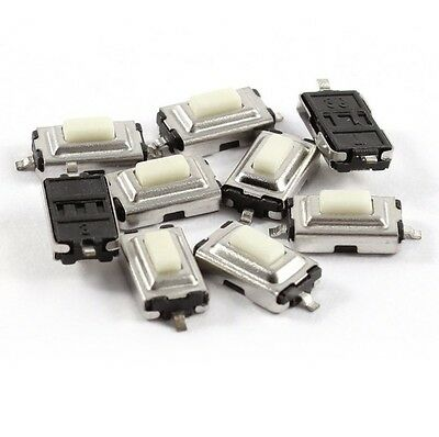 100pcs 3X6X2.5mm Tactile Push Button Switch Tact Switch Micro Switch 2Pin SMD S2