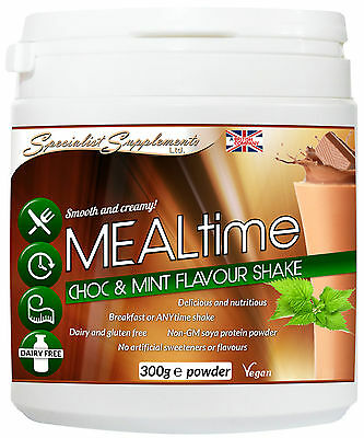 Mealtime - Dairy Free & Gluten Free Meal Protein Drink. Chocolate & Mint Flavour