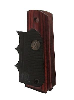 New! Pachmayr ALS 1911 Full Size Rosewood Wood Grips Rubber Finger Grooves 423