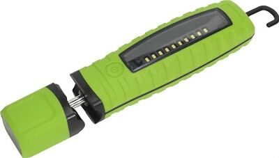 Sealey Cordless 360 10 SMD+3W LED Rechargeable Inspection Lamp Green Lithium-ion
