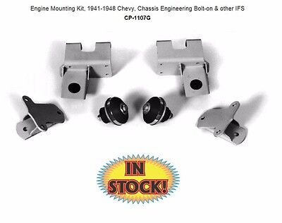 Chassis Engineering Motor Mount Kit for 41-48 Chevy Bolt-On IFS - CP-1107G