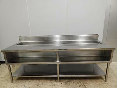 """S/S Serving Station with Ice Well, 96"""" Wide"""