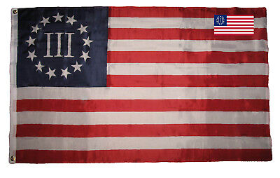 3x5 Betsy Ross Nyberg IIIFlag 3'x5' 3 Percent Banner With Matching Decal