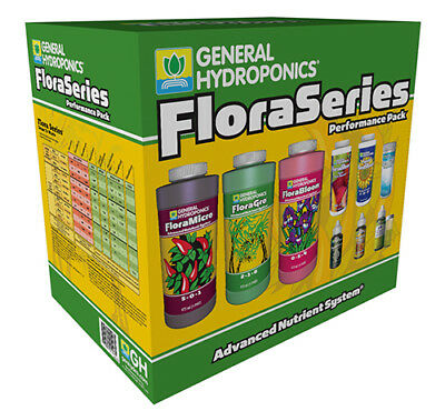 General Hydroponics Flora Series Performance Pack -Gro Micro Kool Bloom Kleen GH
