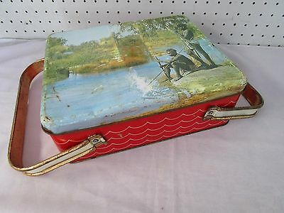 Retro Vintage Phoenix Willow Biscuit Tin, Lunch Box, c/w Handles, Used Condition