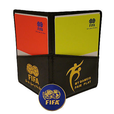 Fifa Football Soccer Referee Wallet with Red and Yellow Cards & Game Flip Coin