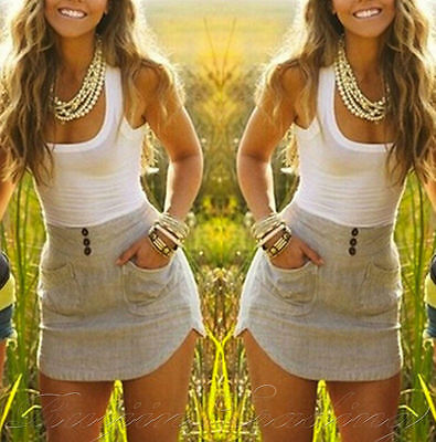 Womens Holiday Mini Playsuit Ladies Jumpsuit Summer Beach Dress Size 6 - 14