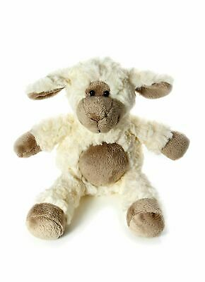 Woolly Sheep Soft Toy Cuddly Toy with Brown Tummy 36 cm