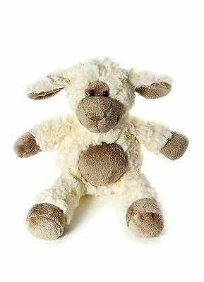Woolly Sheep Soft Toy Cuddly Toy with Brown Tummy 28cm