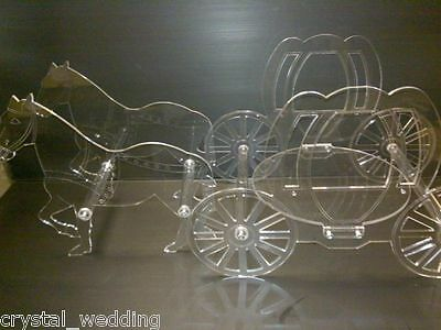 Horse and carriage cake stand  set  for Birthday wedding Engagement Quinceanera