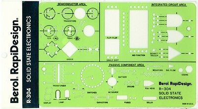 Berol Rapidesign Template - Solid State Electronics - R-304