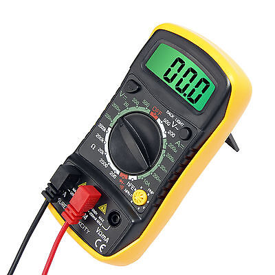 US Digital LCD Multimeter Current Tester Meter Ammeter Ohmmeter OHM Volt AC DC